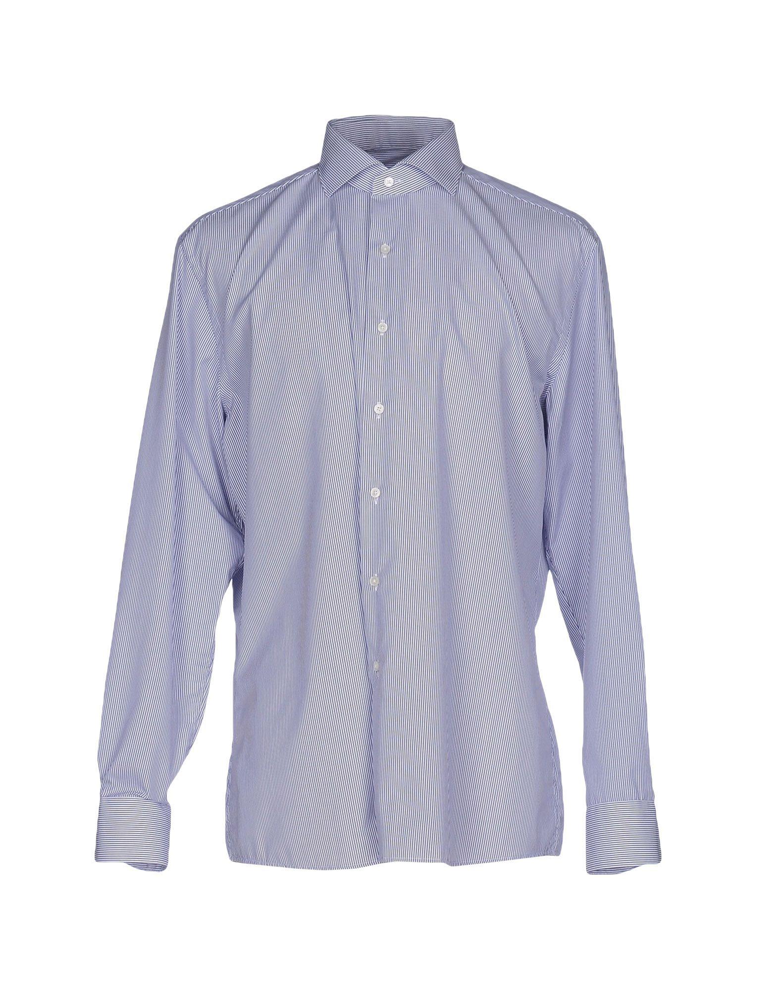 《送料無料》XACUS メンズ シャツ ダークブルー 43 コットン 100%