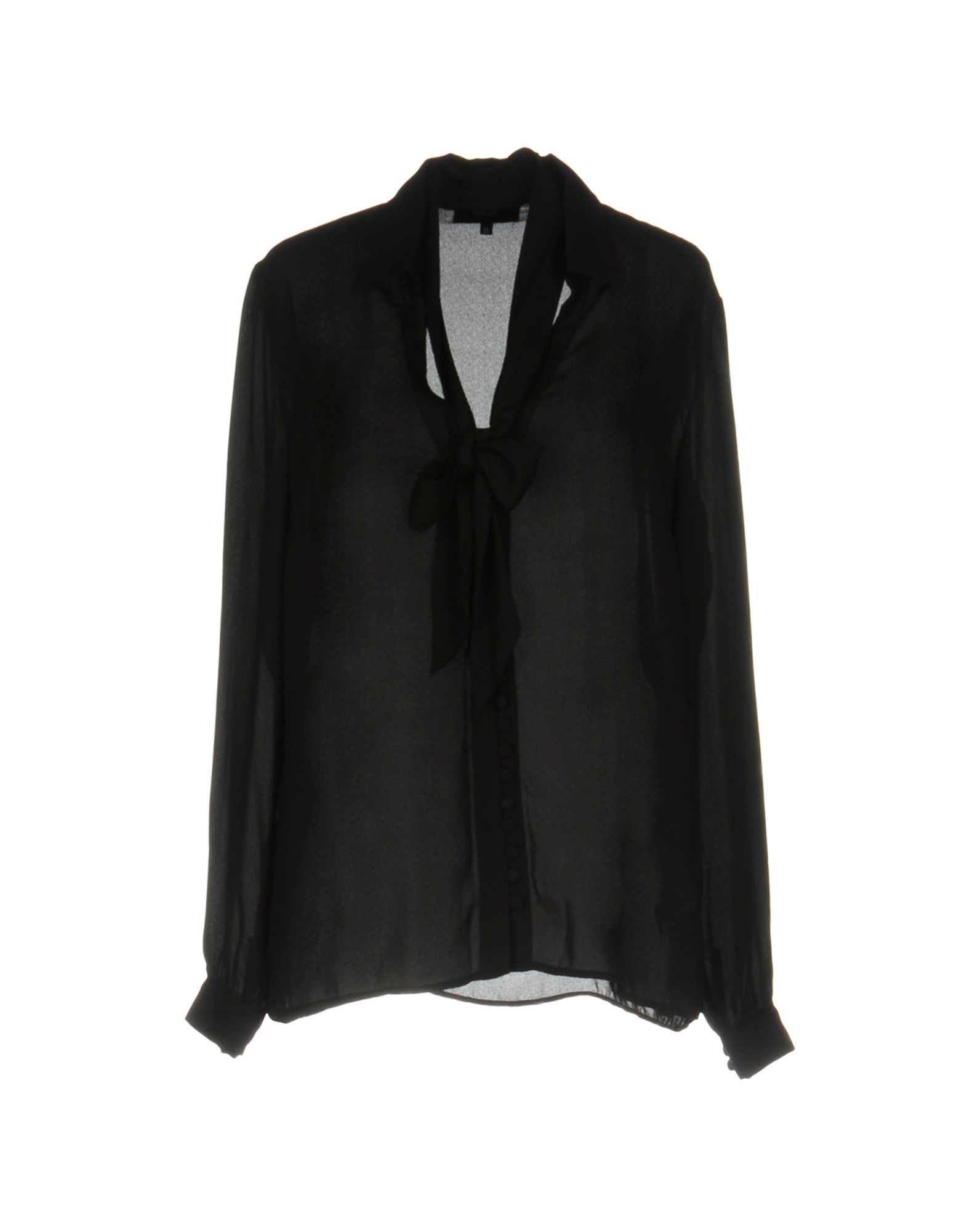 GOLDIE LONDON Solid Color Shirts & Blouses in Black