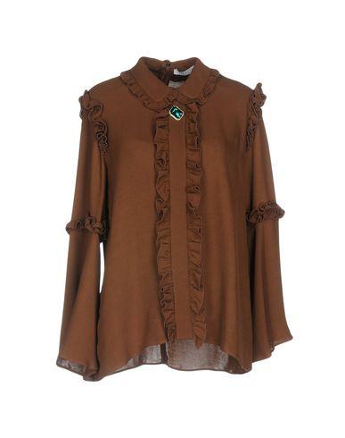 Фото - Женскую блузку  коричневого цвета