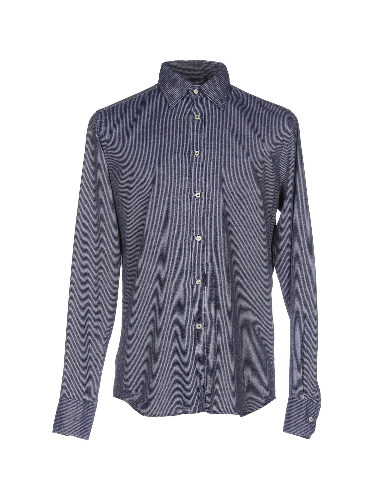 BEVILACQUA Striped Shirt in Blue