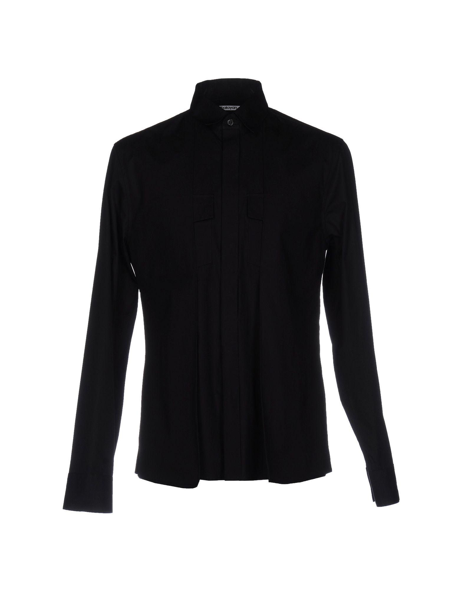 《送料無料》CHALAYAN メンズ シャツ ブラック 52 コットン 100%