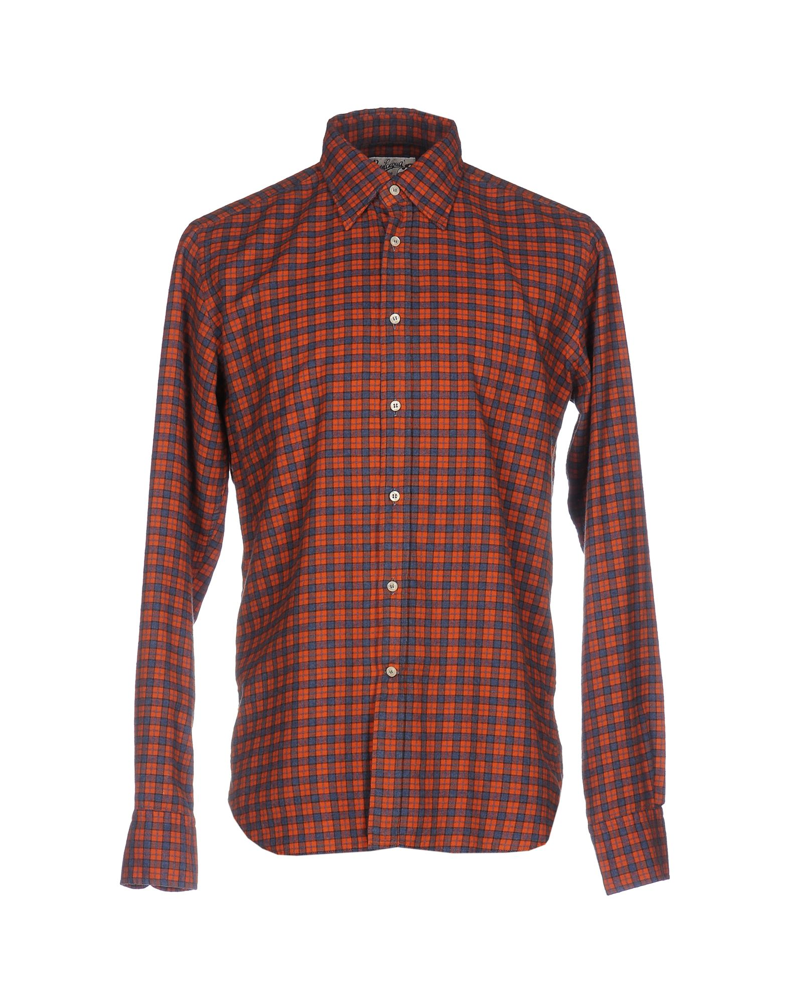《送料無料》BEVILACQUA メンズ シャツ オレンジ S コットン 100%