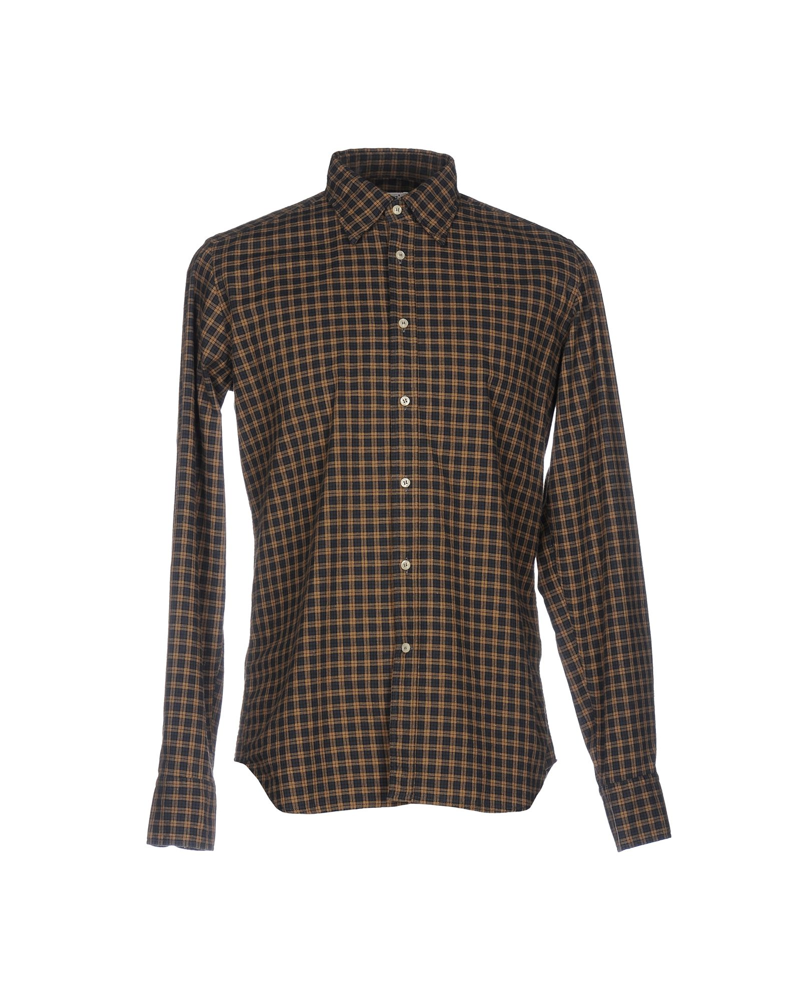 BEVILACQUA Checked Shirt in Khaki