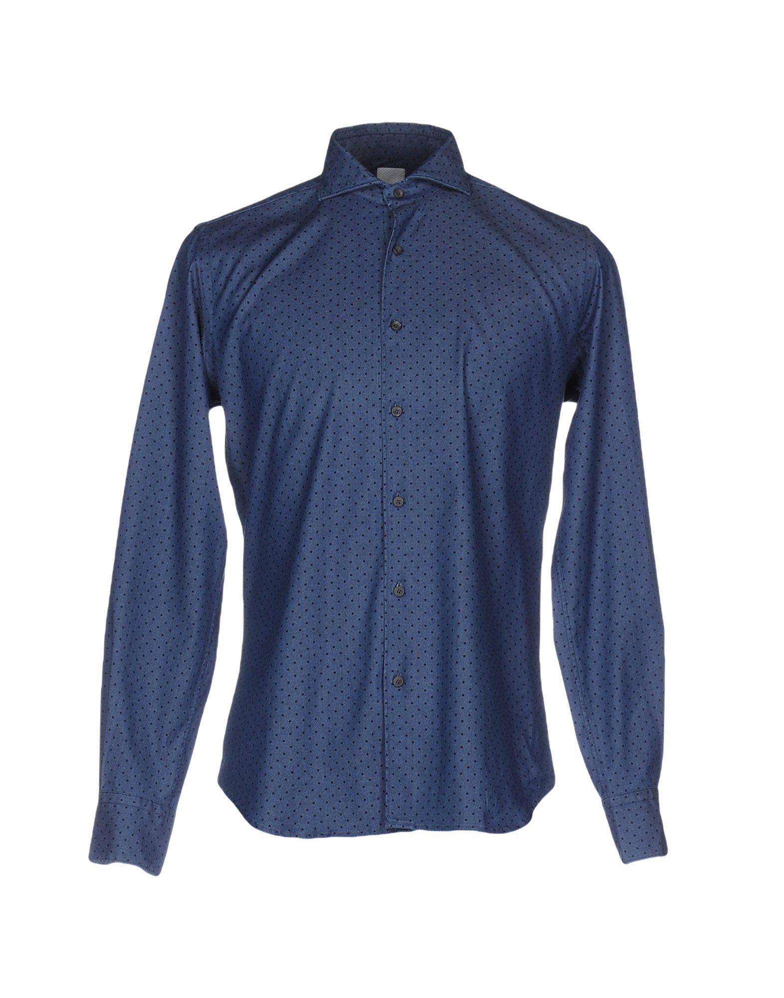 цена CELLINI Джинсовая рубашка онлайн в 2017 году