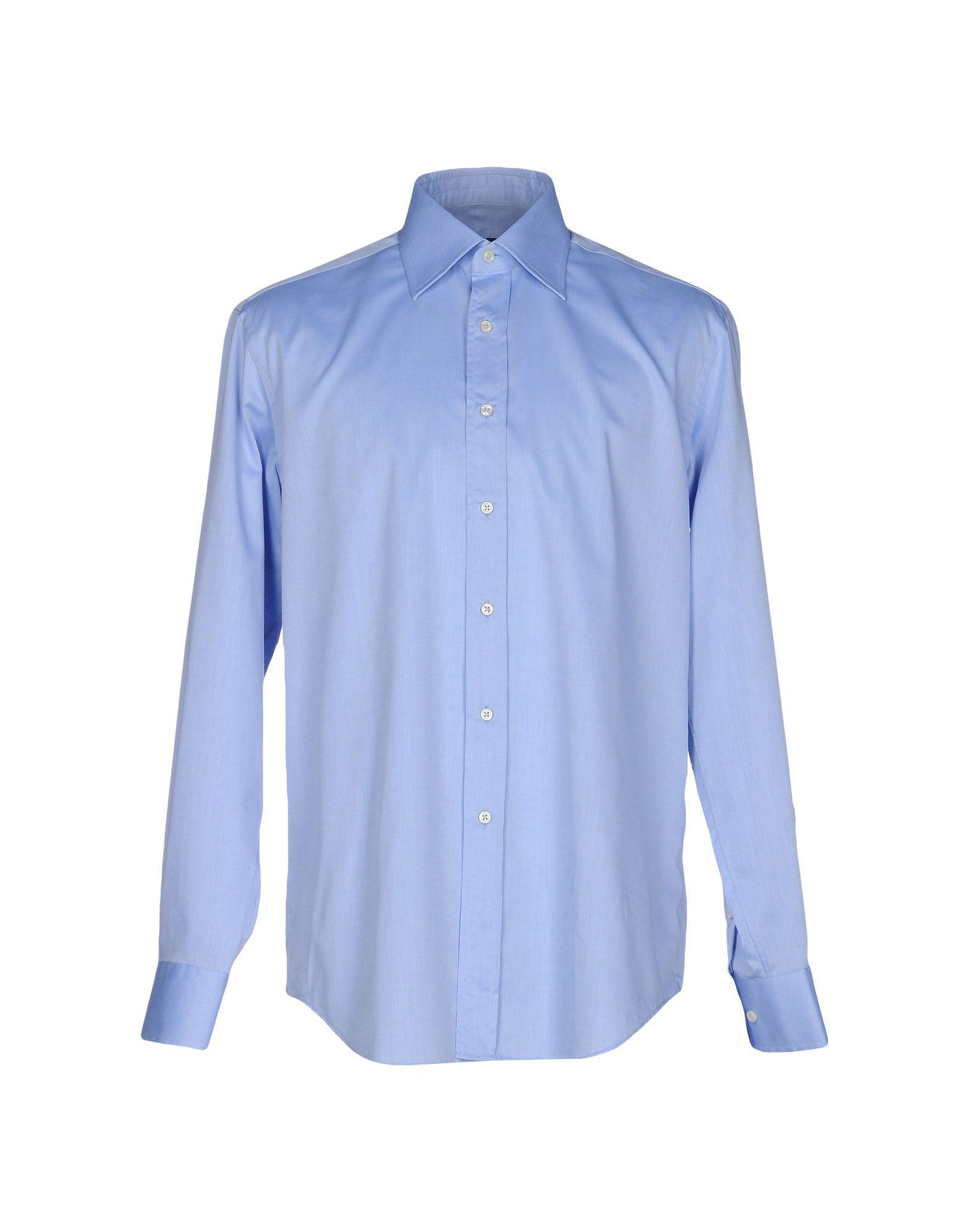 《セール開催中》PAUL CLEMENTI メンズ シャツ アジュールブルー 39 コットン 100%