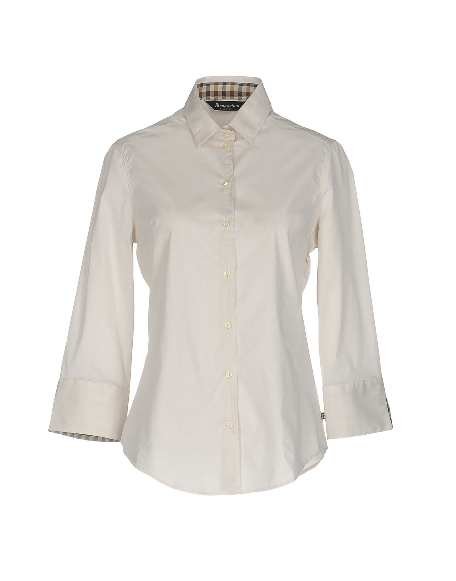AQUASCUTUM Solid Color Shirts & Blouses in White