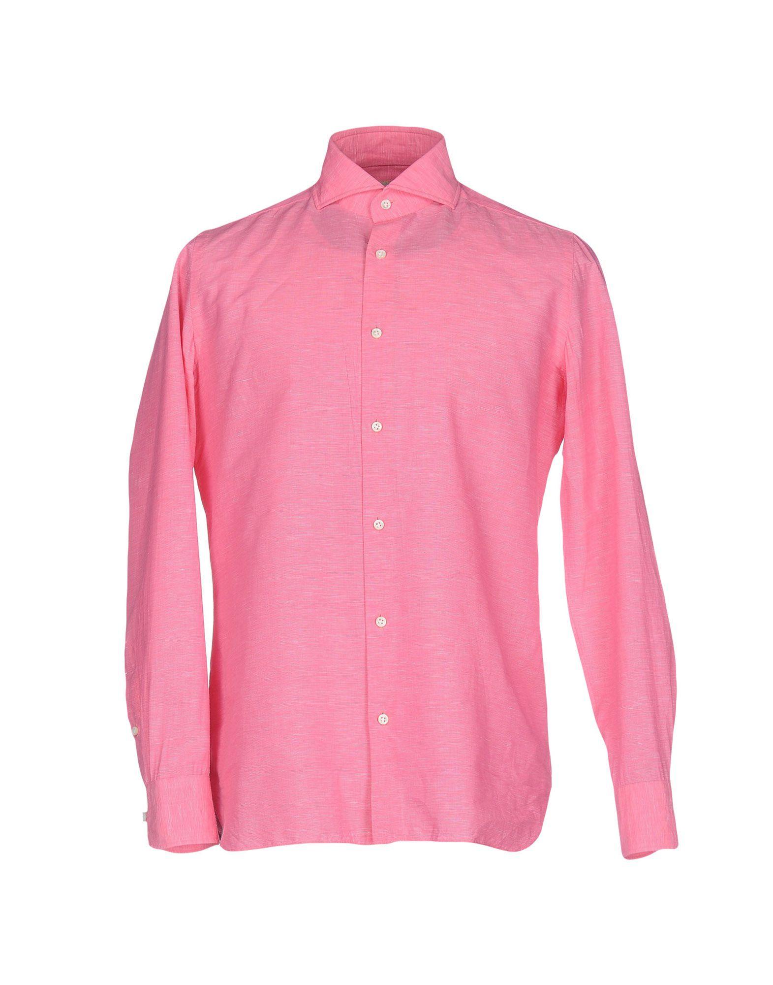 LUIGI BORRELLI NAPOLI Herren Hemd Farbe Fuchsia Größe 4