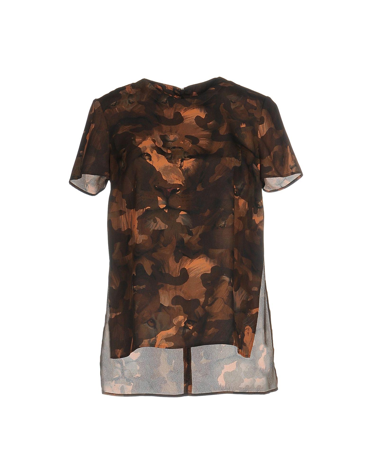 VERSUS VERSACE Блузка блузка с рисунком короткие рукава вырез сзади