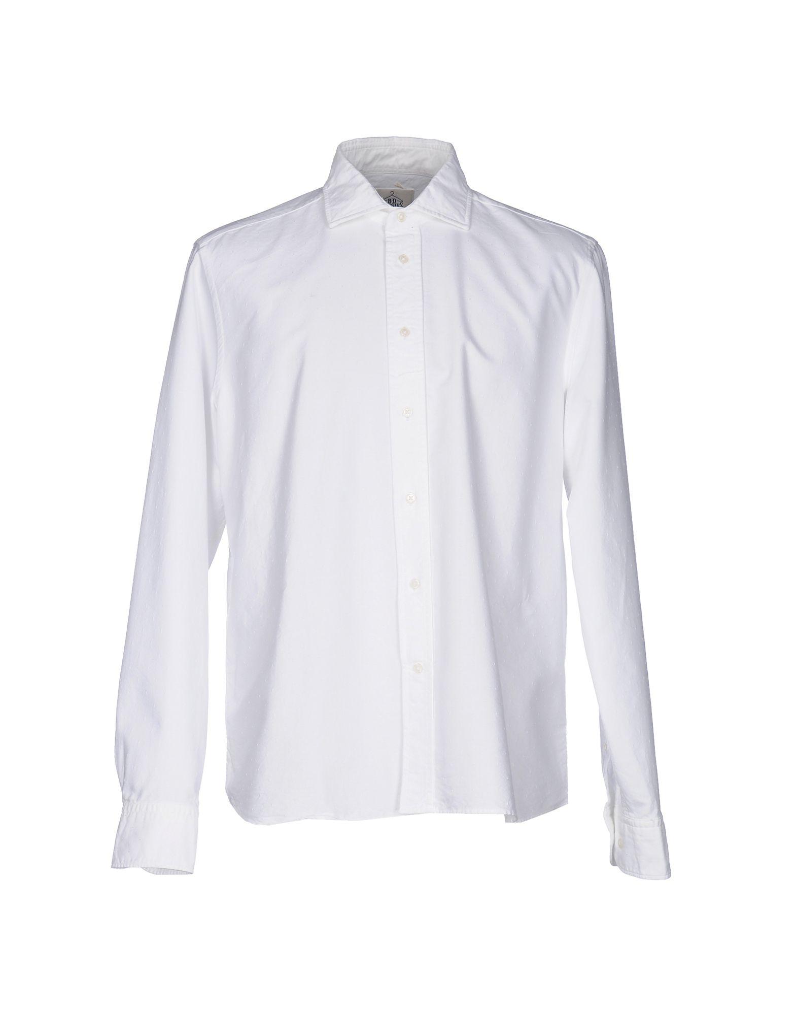 《送料無料》B.D.BAGGIES メンズ シャツ ホワイト S コットン 100%