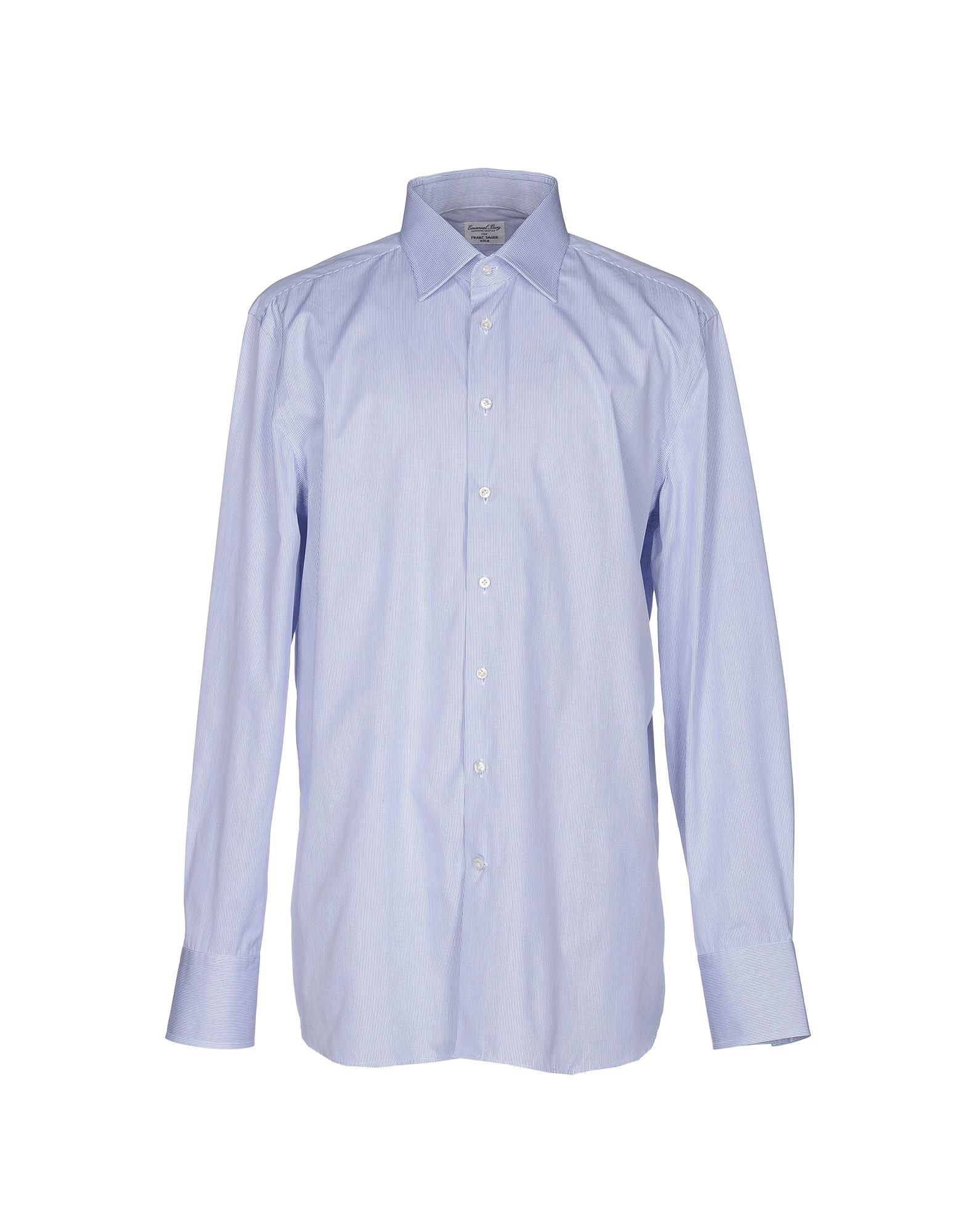EMANUEL BERG Checked Shirt in Blue
