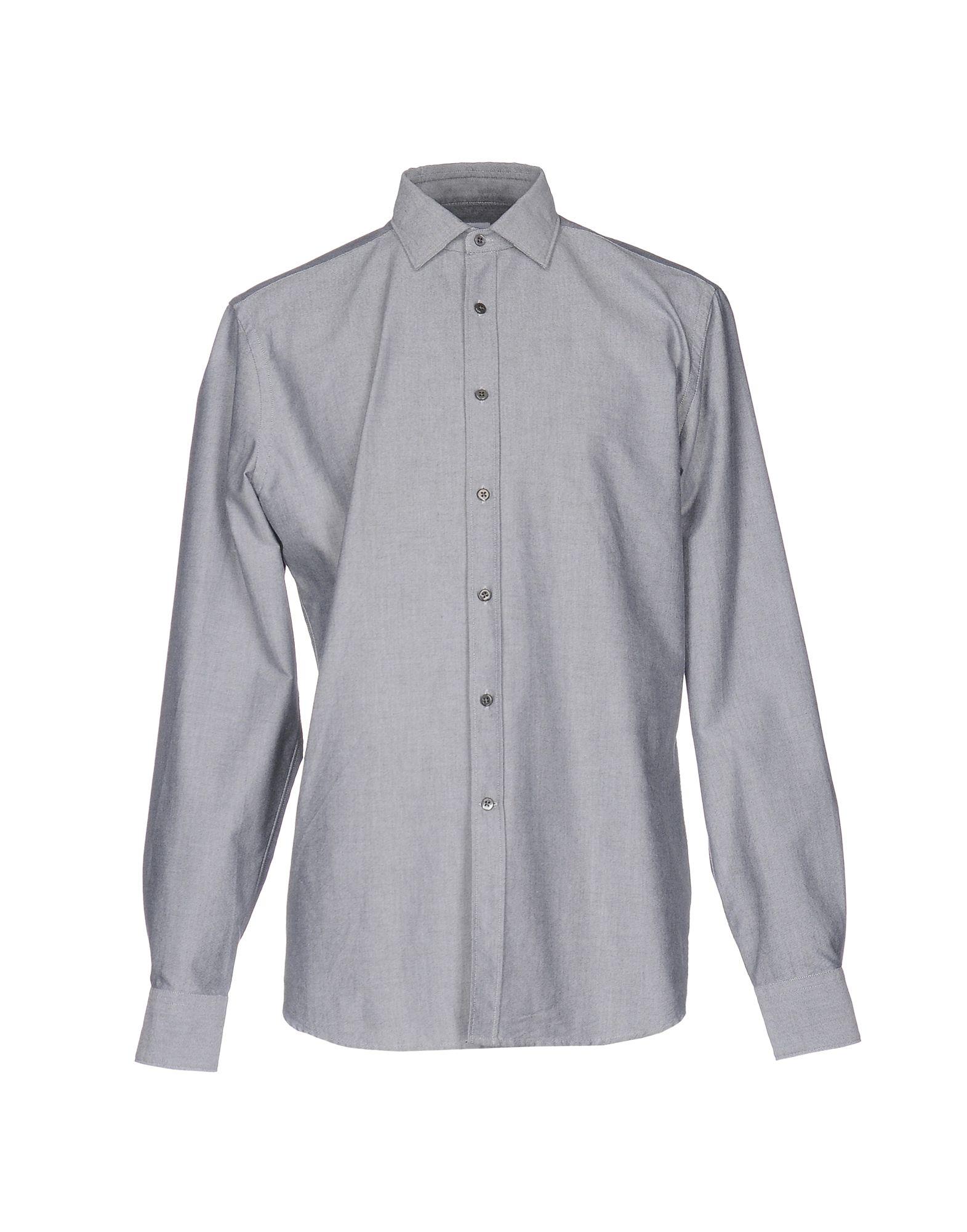 《送料無料》BAGUTTA メンズ シャツ グレー XL コットン 100%
