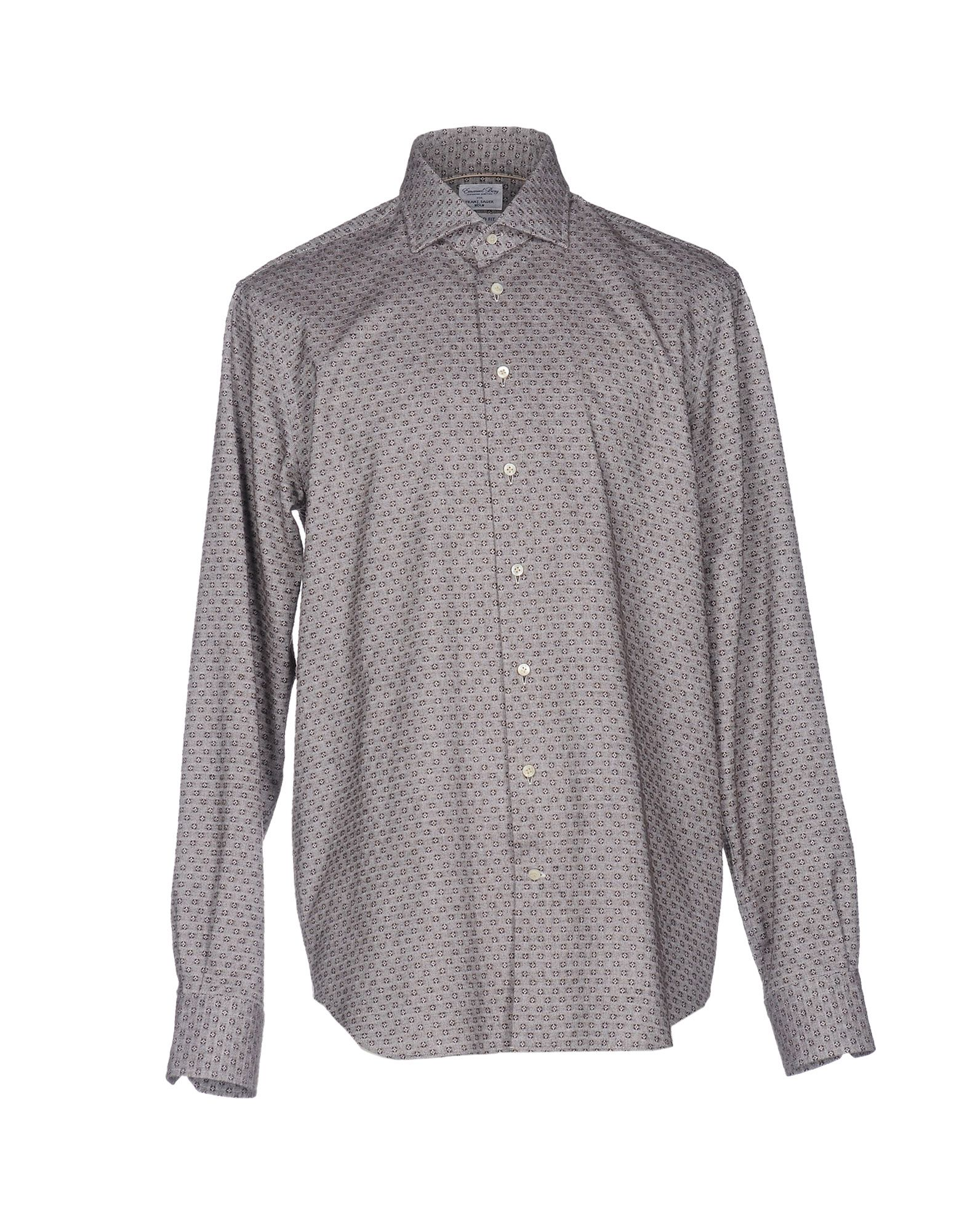EMANUEL BERG Patterned Shirt in Grey