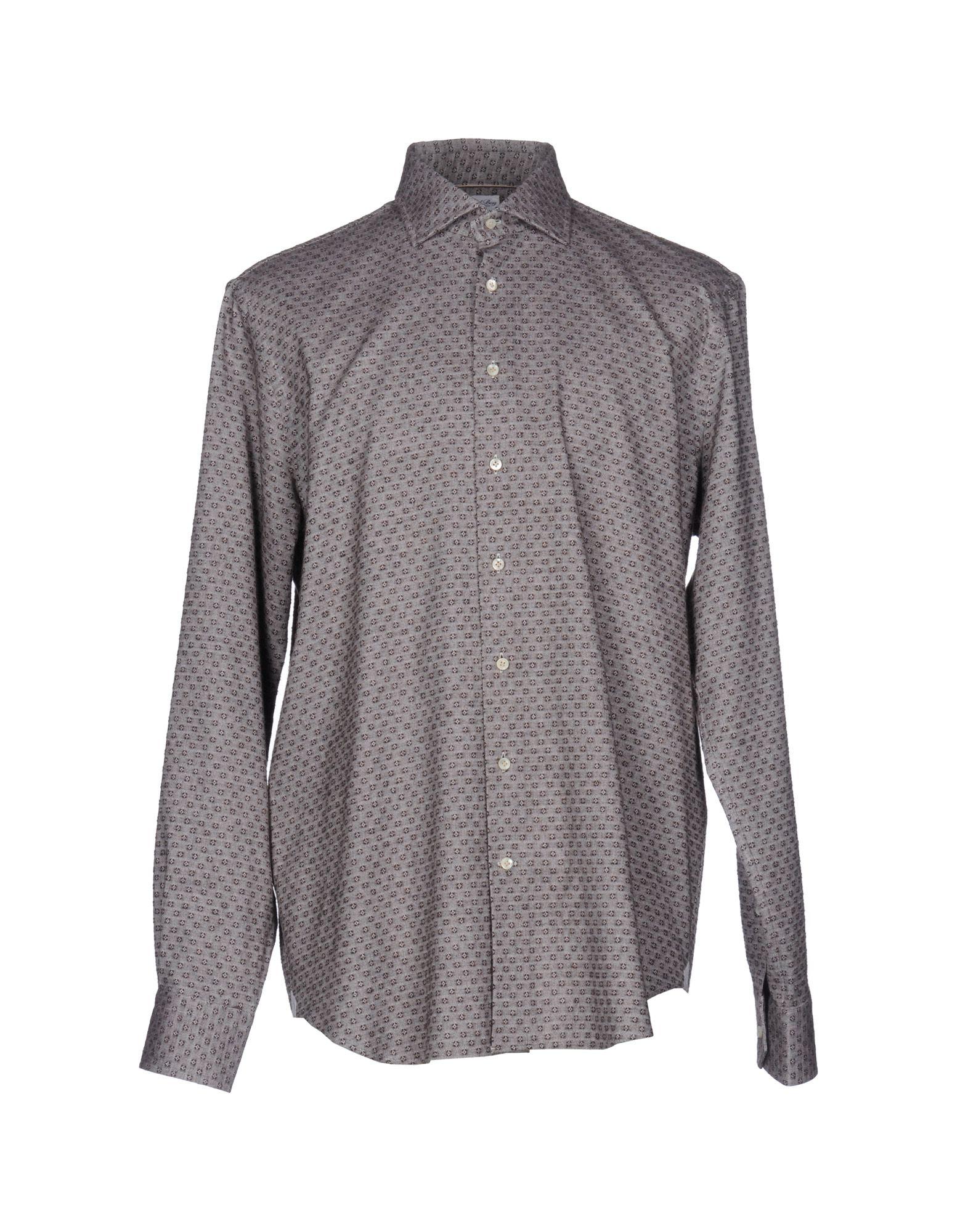 EMANUEL BERG Patterned Shirt in Khaki