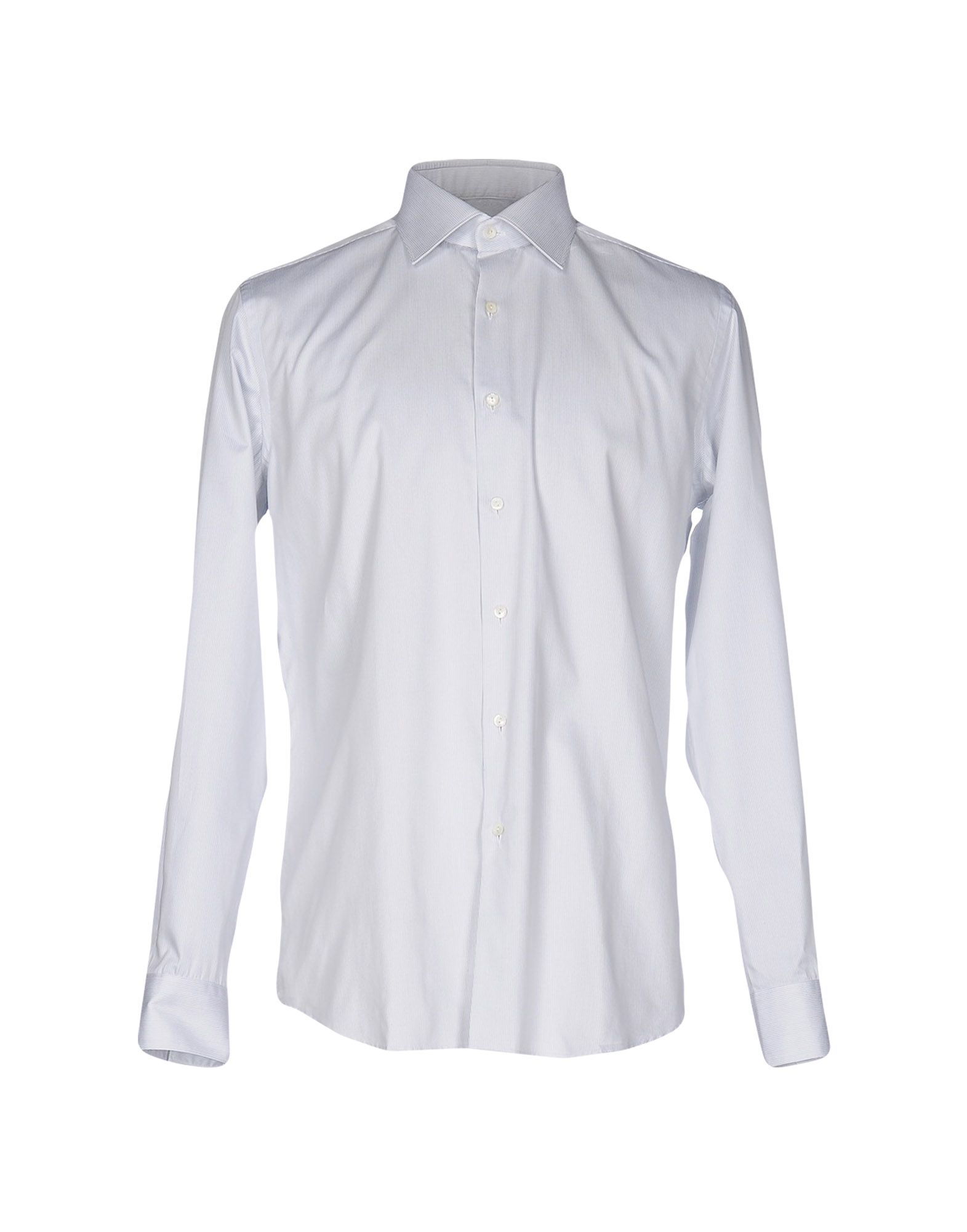《送料無料》XACUS メンズ シャツ ライトグレー 44 コットン 100%