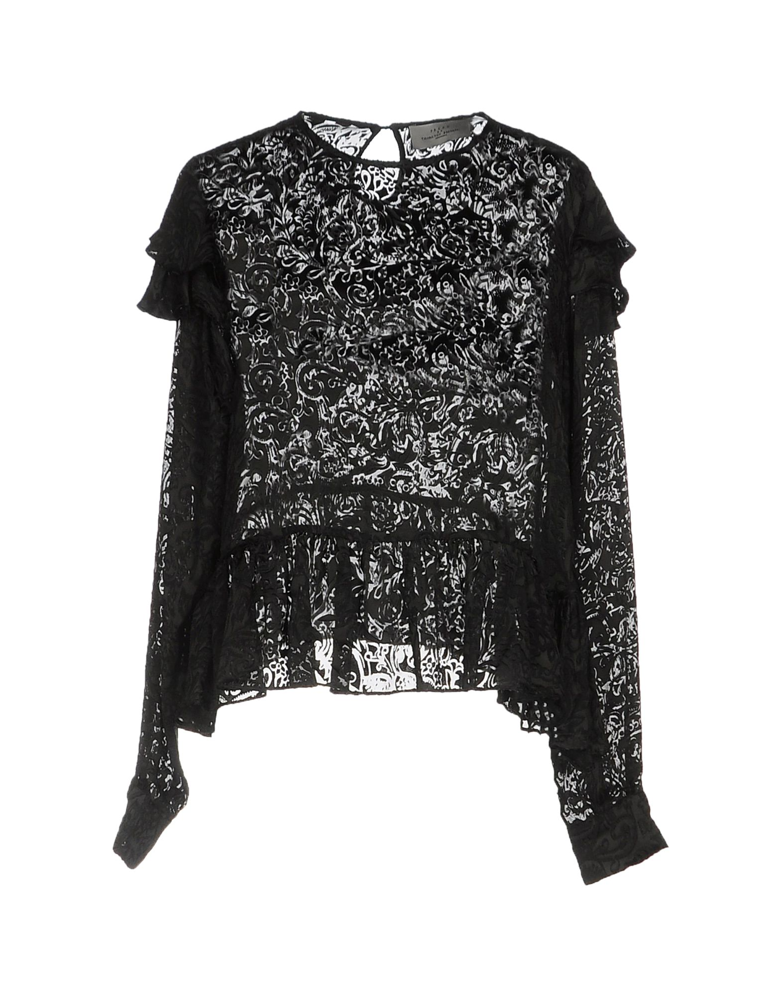 PREEN by THORNTON BREGAZZI Damen Bluse Farbe Schwarz Größe 5