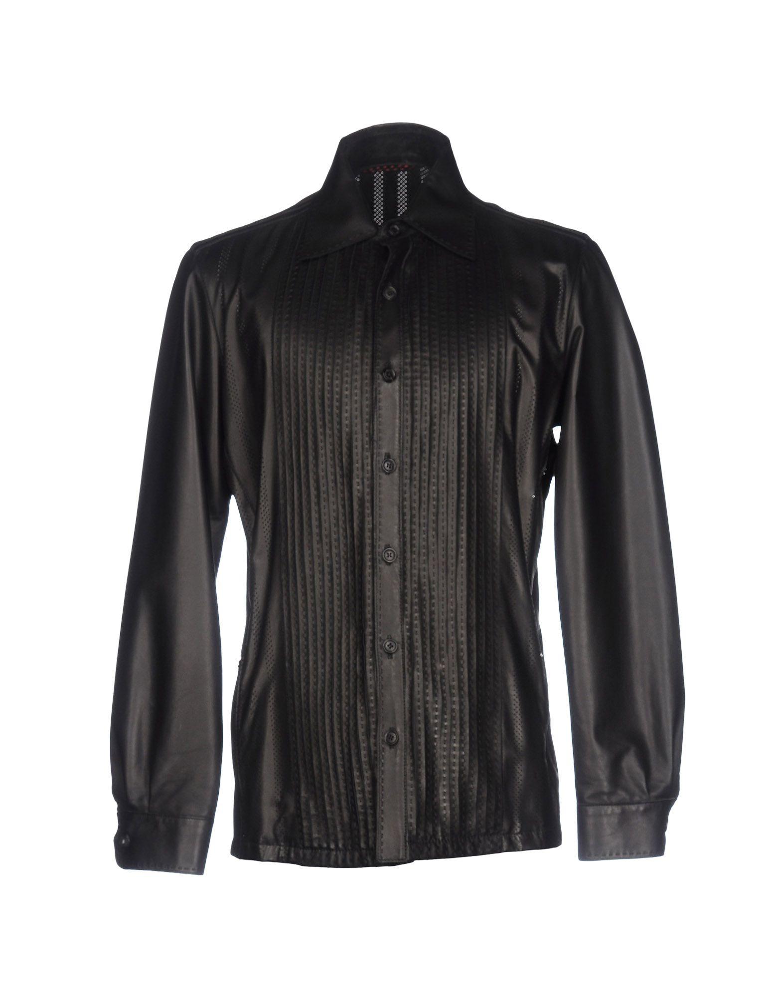 KAPRAUN Herren Hemd Farbe Schwarz Größe 8