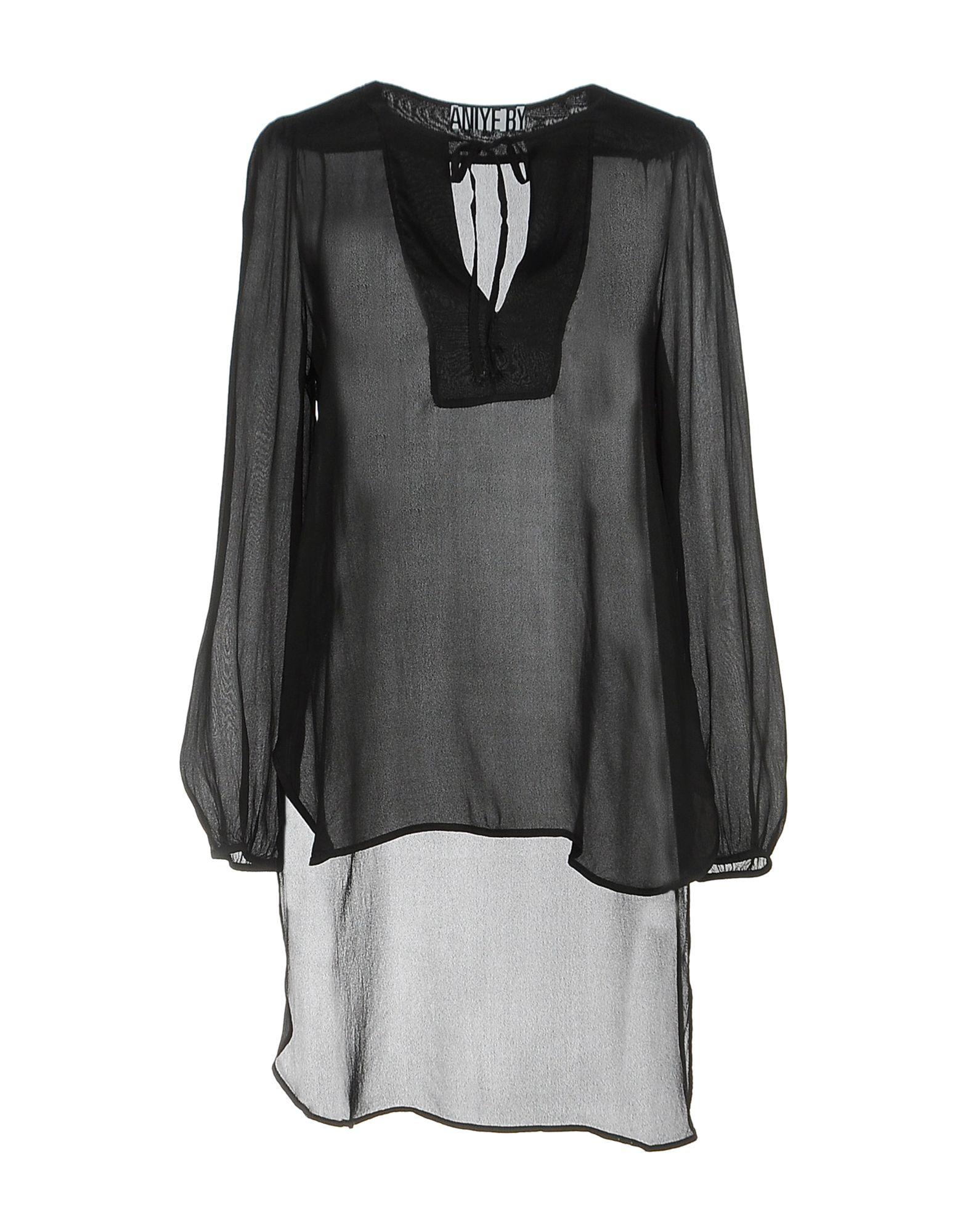 ANIYE BY Damen Bluse Farbe Schwarz Größe 4