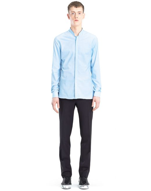 lanvin mandarin collar shirt  men