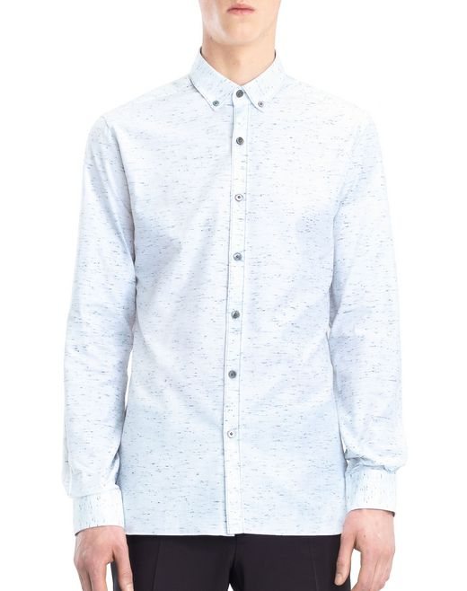 lanvin chalk twill shirt men