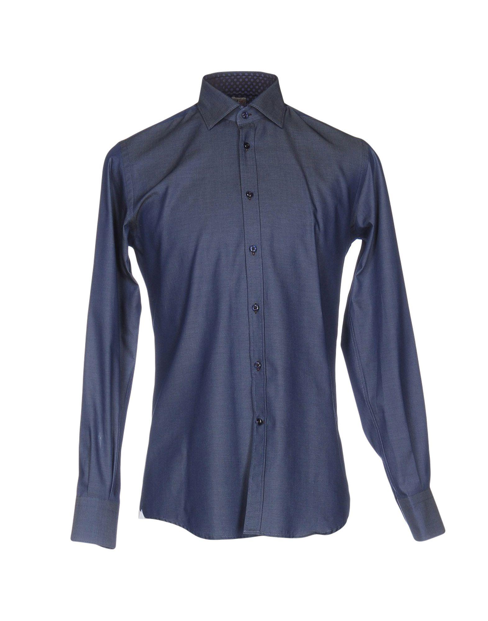 《期間限定 セール開催中》OTTO ASOLE メンズ シャツ ブルーグレー 38 コットン 100%