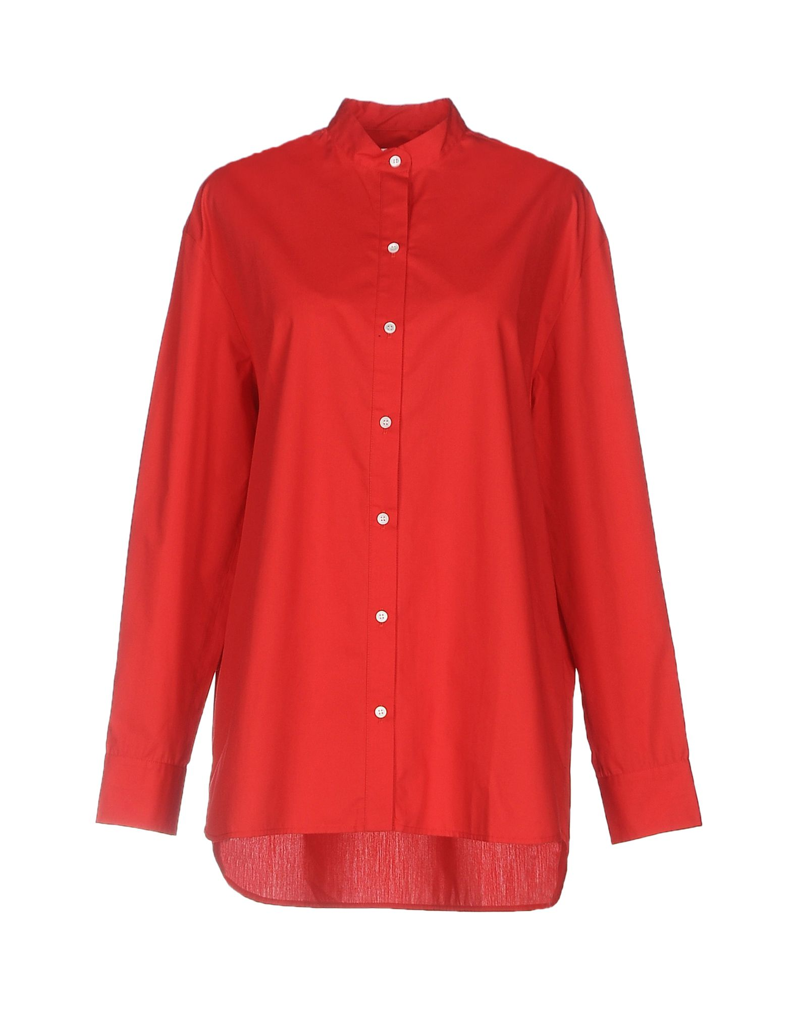 ATEA OCEANIE Solid Color Shirts & Blouses in Red
