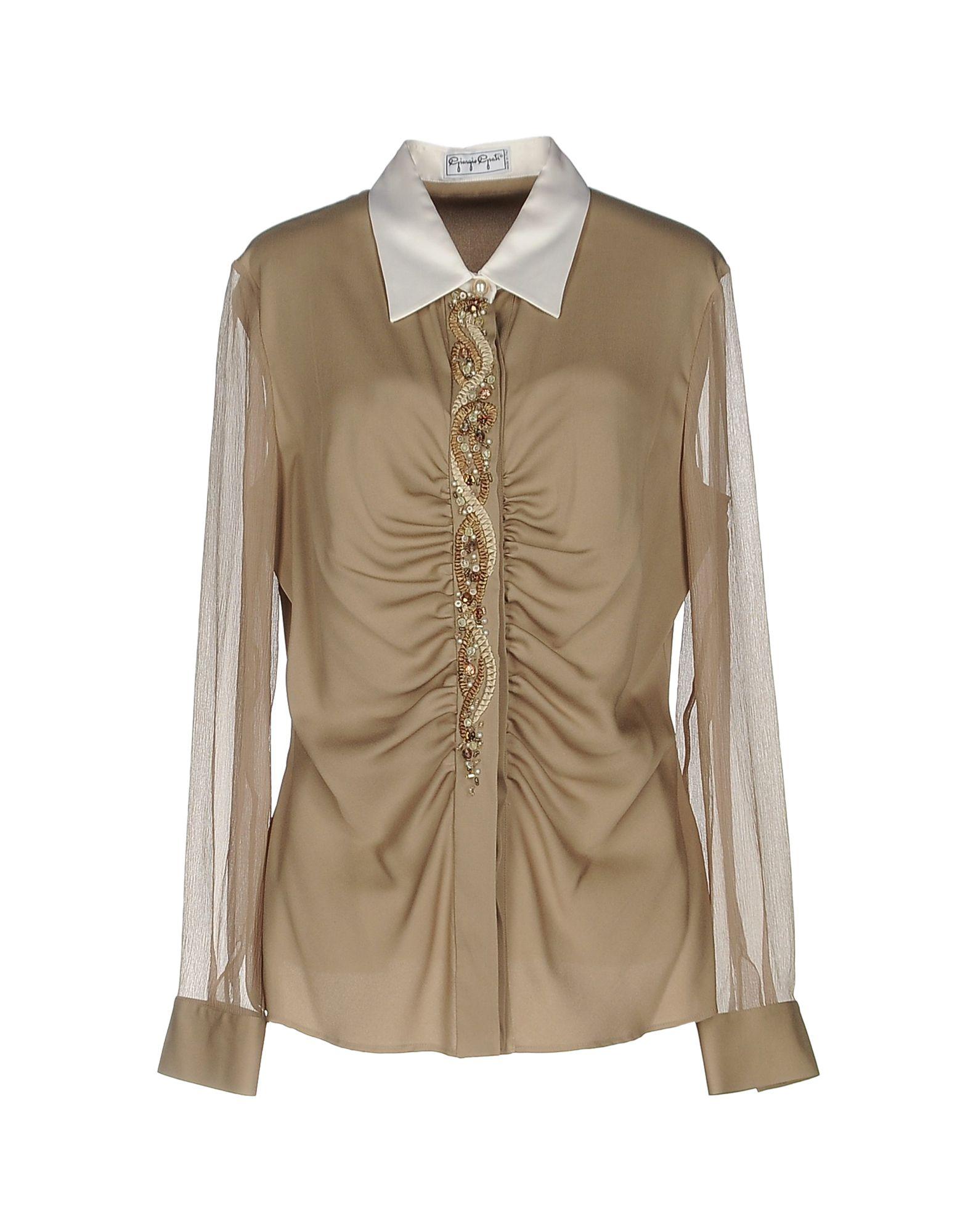 GIORGIO GRATI Damen Hemd Farbe Beige Größe 7