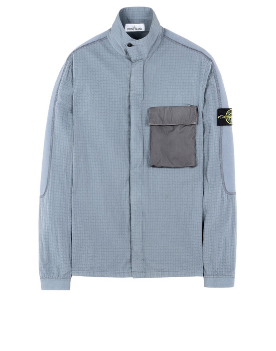 STONE ISLAND OVER SHIRT 114J1 SI HOUSE CHECK TELA COTONE NYLON