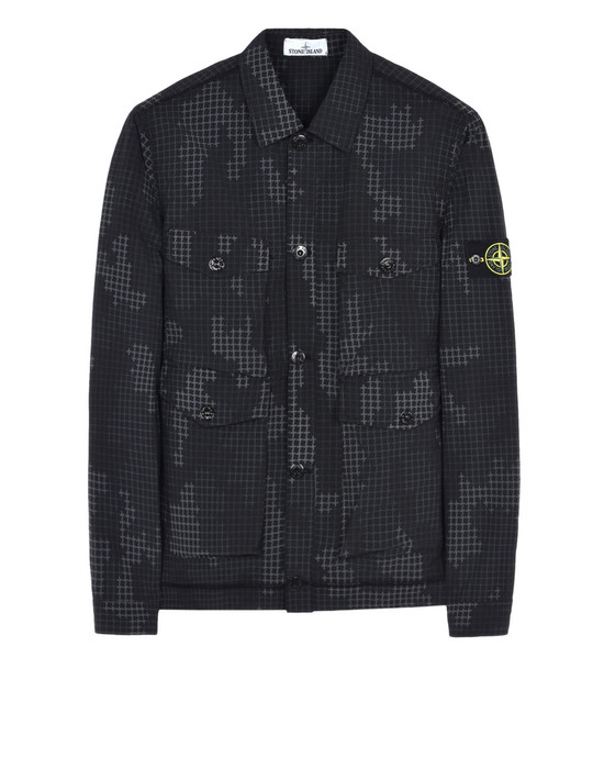 OVER SHIRT 112E3 FULL COMPACT RIP STOP SI CHECK GRID CAMO STONE ISLAND - 0