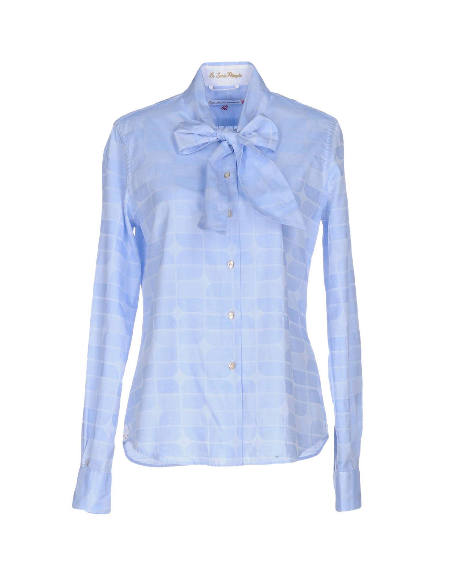 LE SARTE PETTEGOLE Damen Hemd Farbe Himmelblau Größe 4