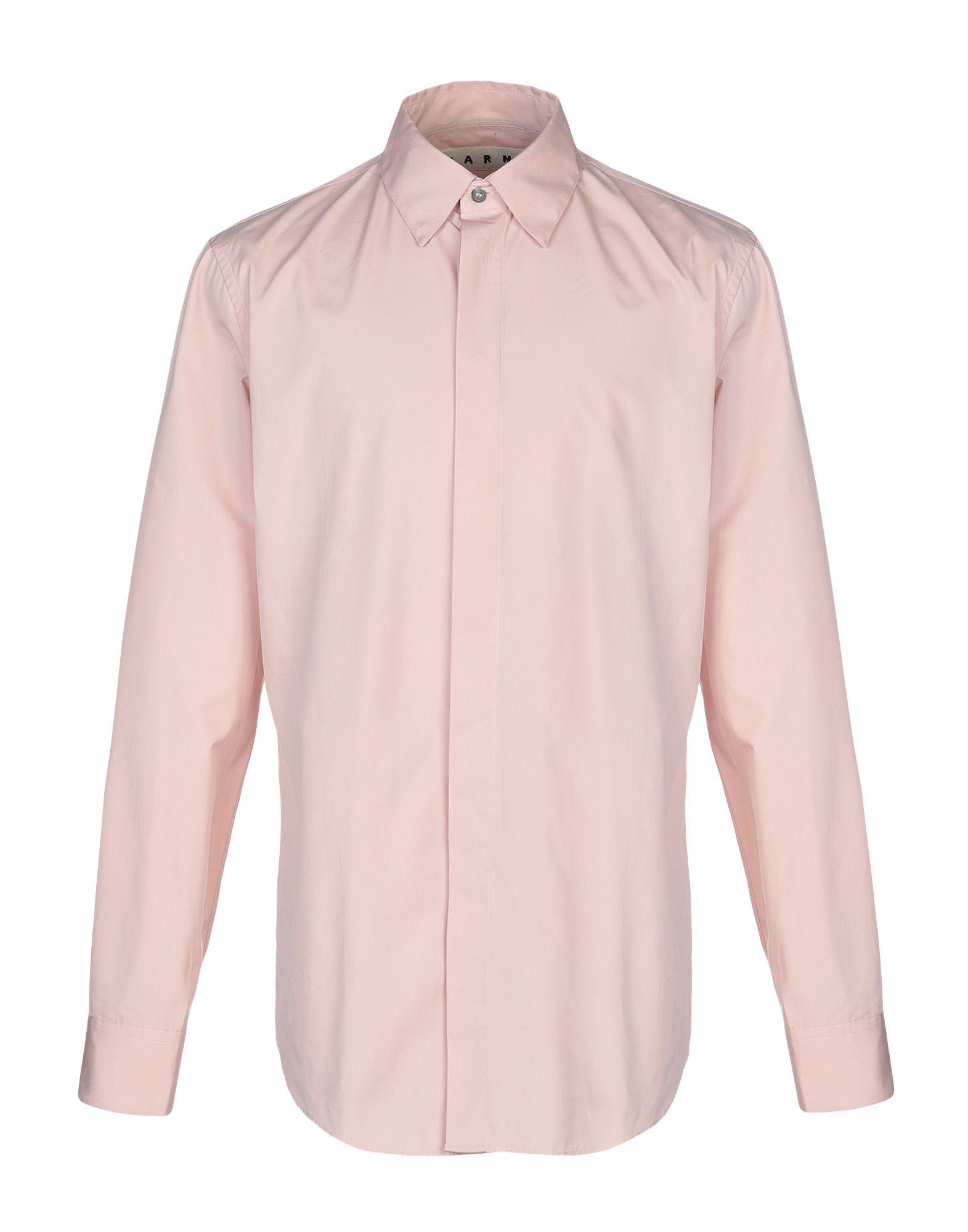 《送料無料》MARNI メンズ シャツ ピンク 52 コットン 100%