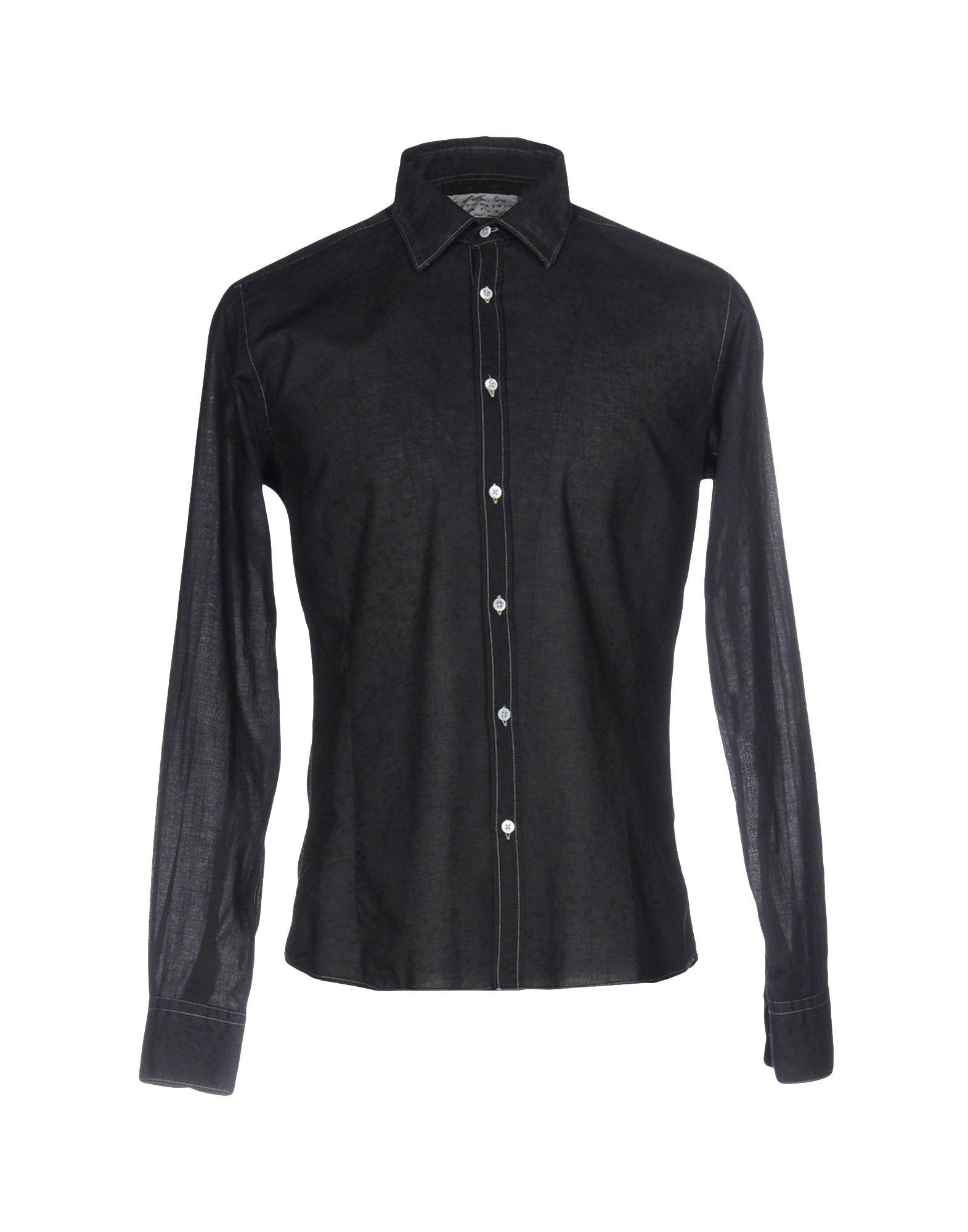 《送料無料》GHEDINI ZUCCARINI CONTINI メンズ シャツ ダークブルー 40 コットン 100%
