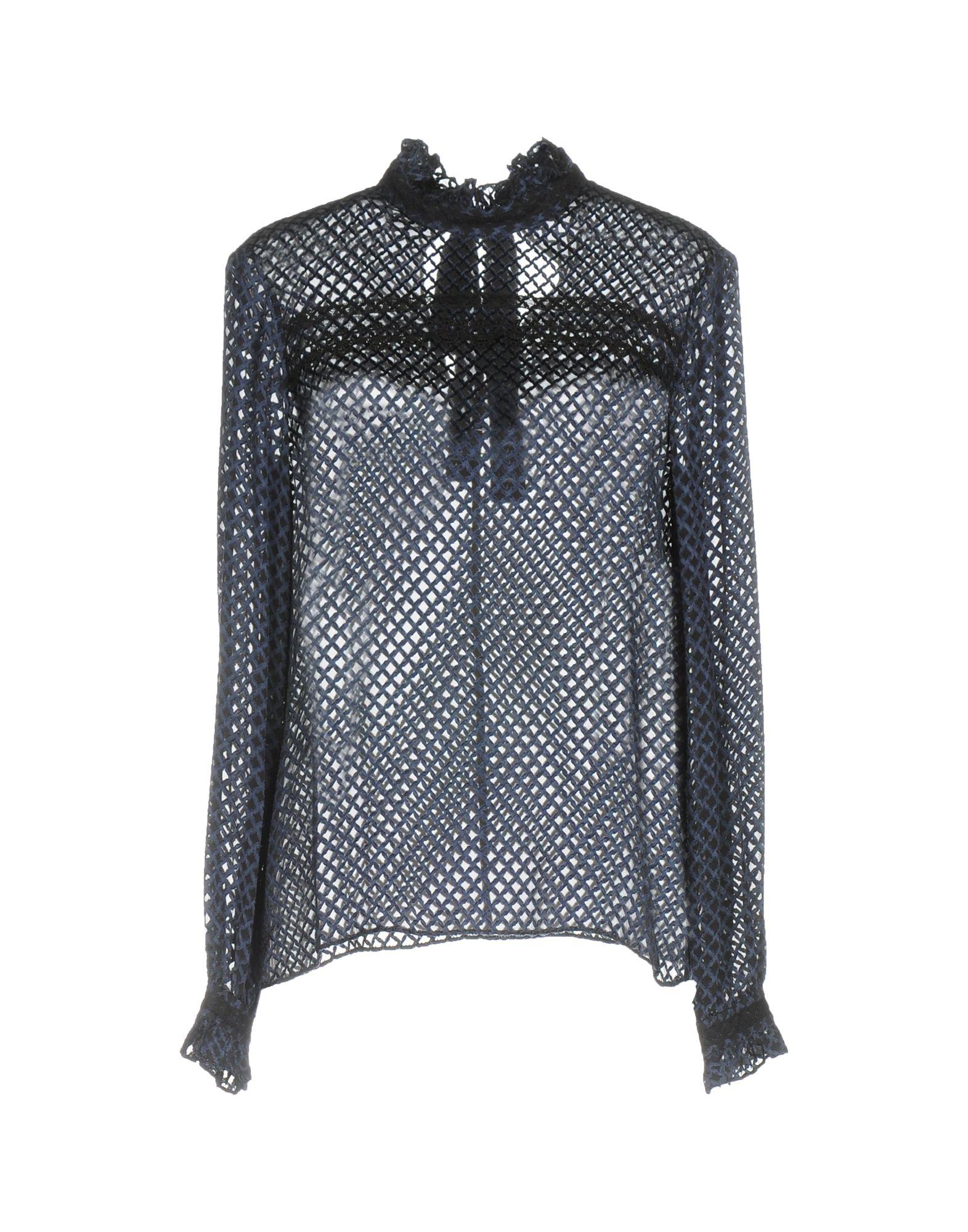 SALONI Damen Bluse Farbe Dunkelblau Größe 4