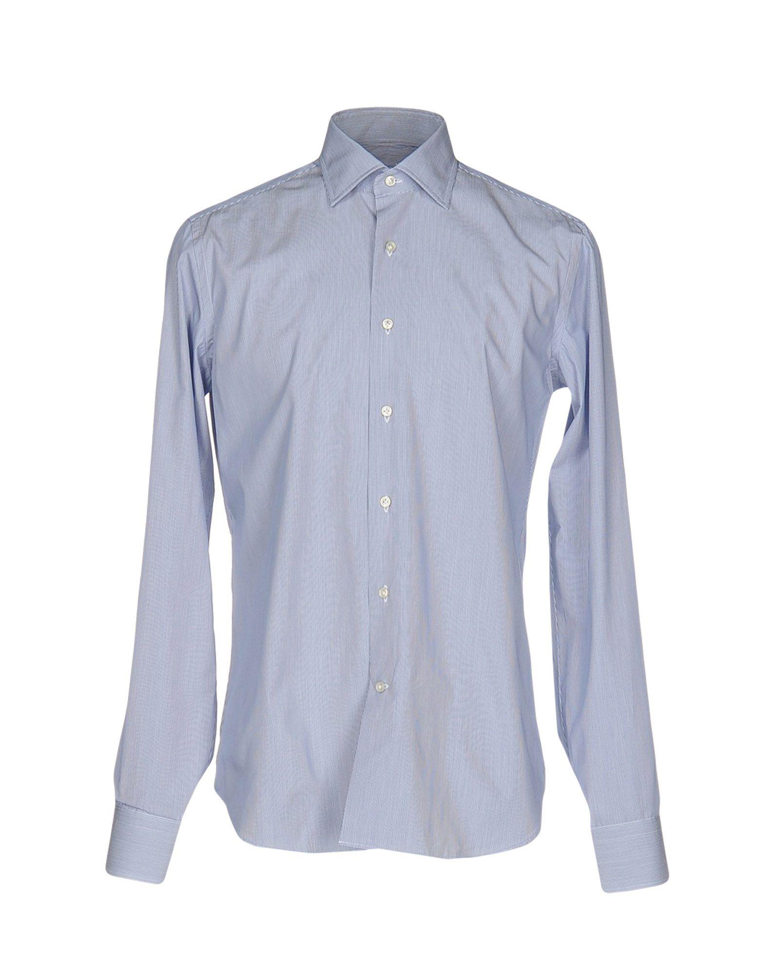 《送料無料》TT CAMICERIA DAL 1938 メンズ シャツ ブルー 40 コットン 100%