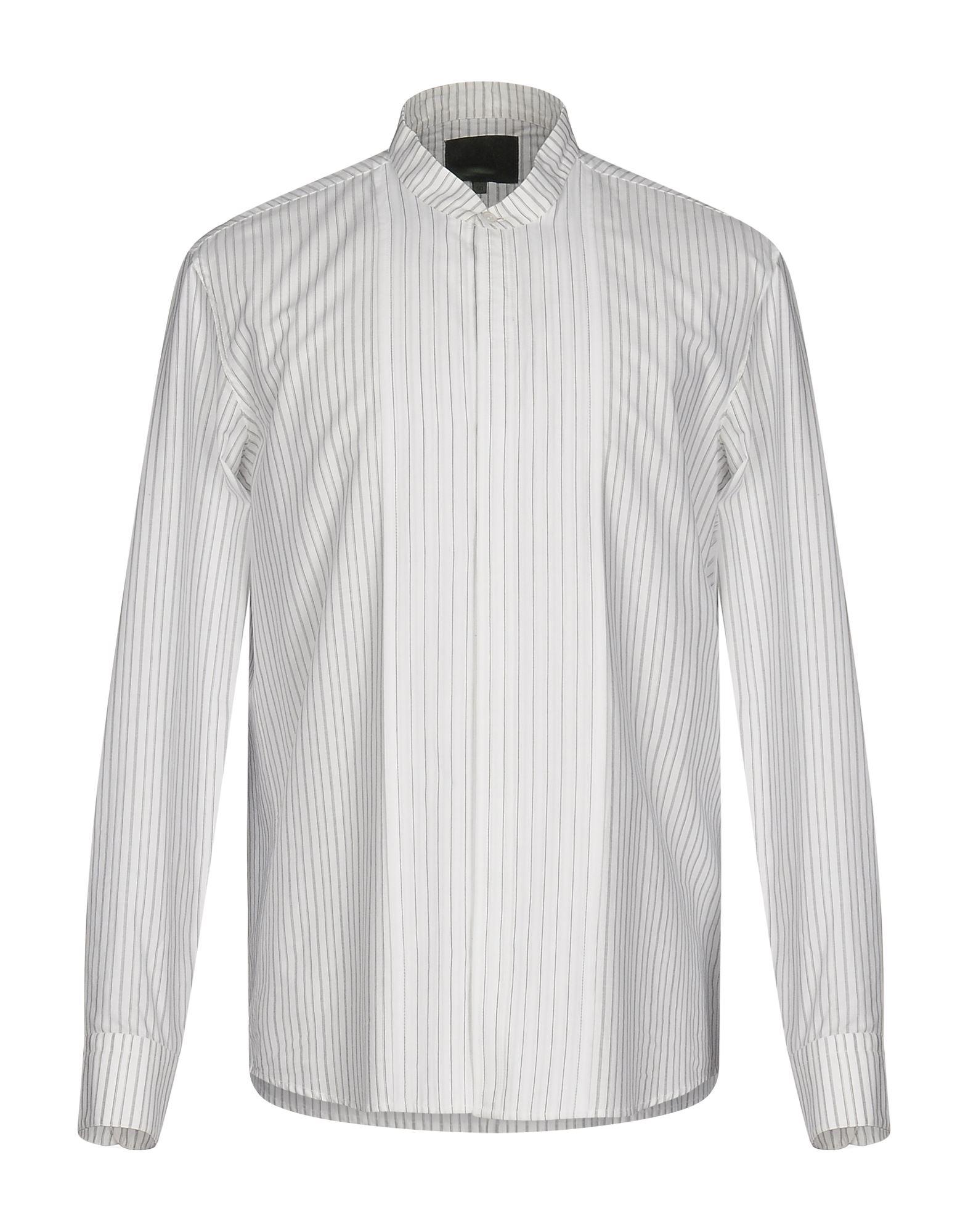 《セール開催中》.AMEN. メンズ シャツ ホワイト 50 100% コットン