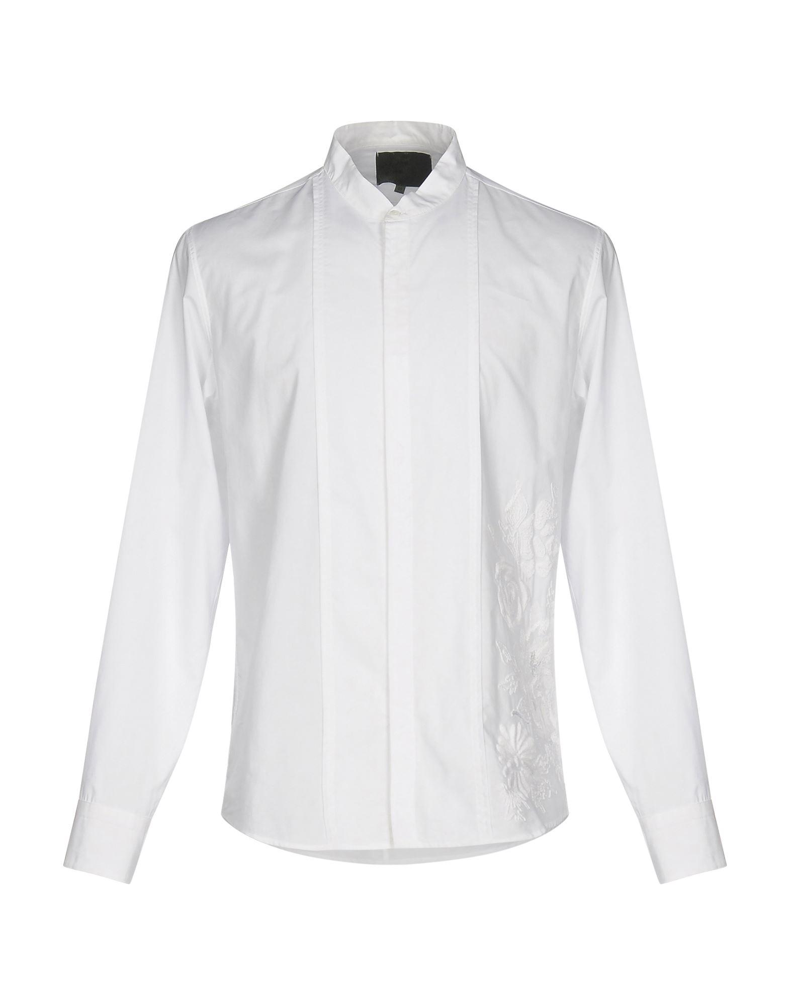 《セール開催中》.AMEN. メンズ シャツ ホワイト 48 100% コットン