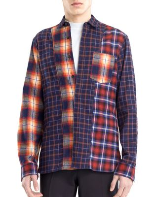 CHECKERED PATCHWORK SHIRT