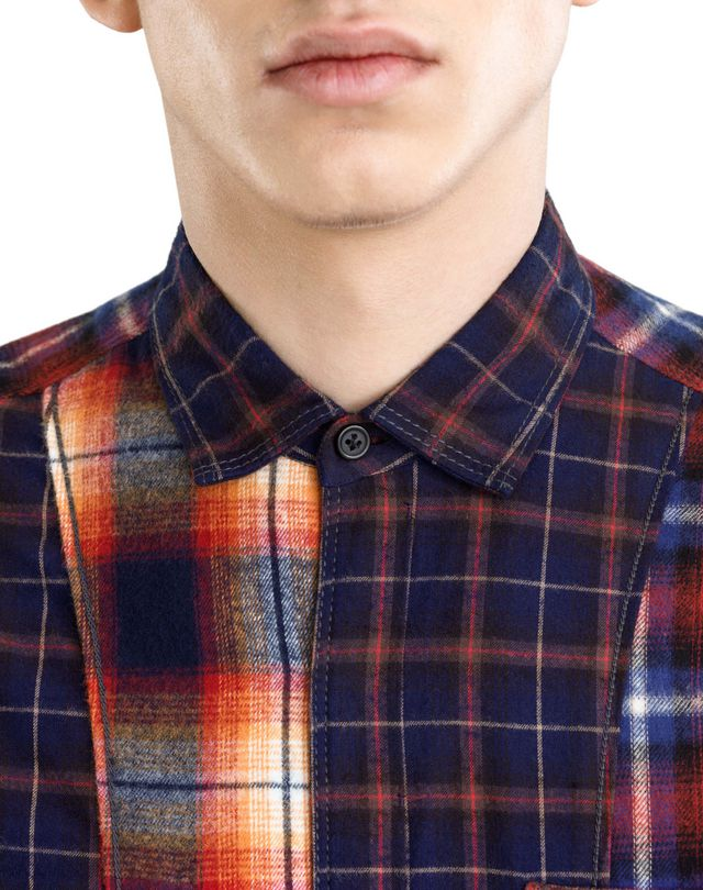 LANVIN CHECKERED PATCHWORK SHIRT Shirt U a