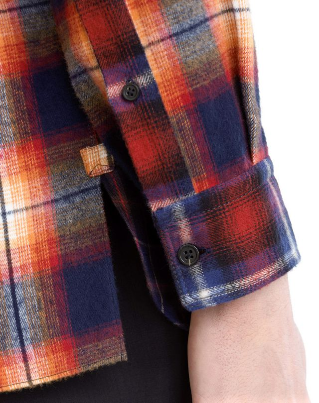 LANVIN CHECKERED PATCHWORK SHIRT Shirt U b