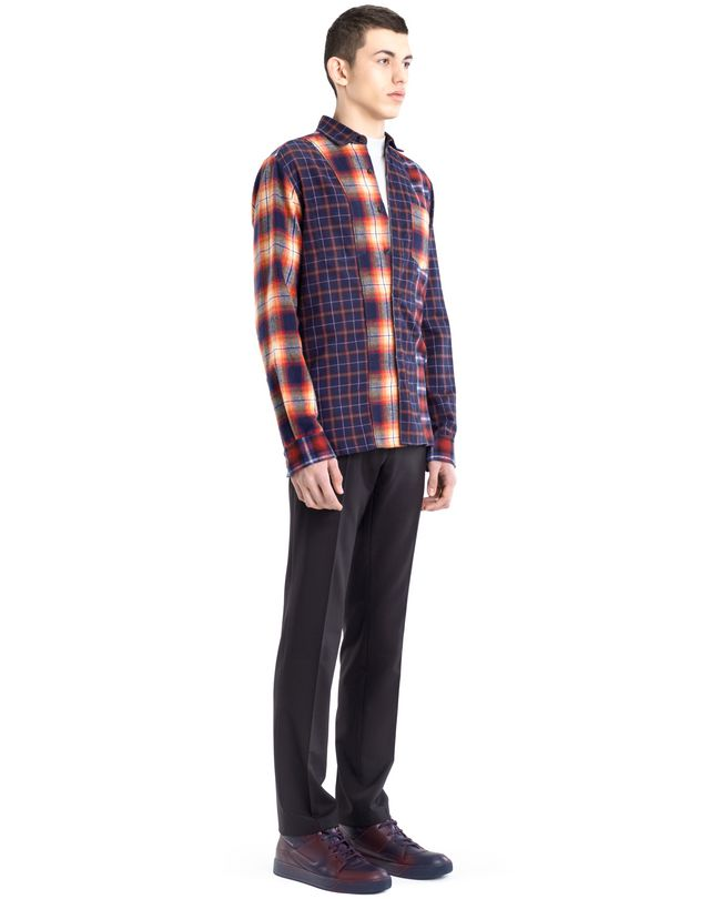 LANVIN CHECKERED PATCHWORK SHIRT Shirt U e