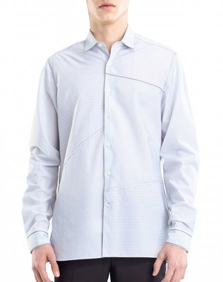 LANVIN PINSTRIPE PATCHWORK SHIRT Shirt U f
