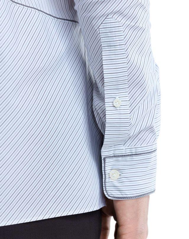 LANVIN PINSTRIPE PATCHWORK SHIRT Shirt U a