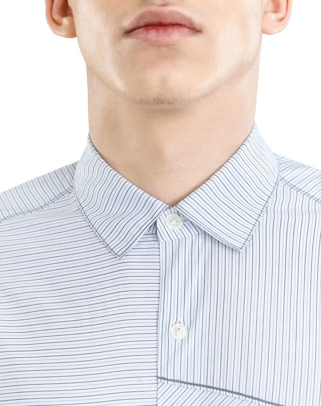 LANVIN PINSTRIPE PATCHWORK SHIRT Shirt U b