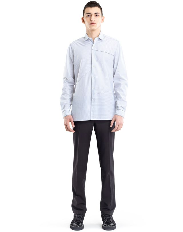 LANVIN PINSTRIPE PATCHWORK SHIRT Shirt U r
