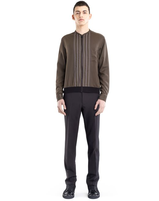 lanvin zippered shirt jacket  men