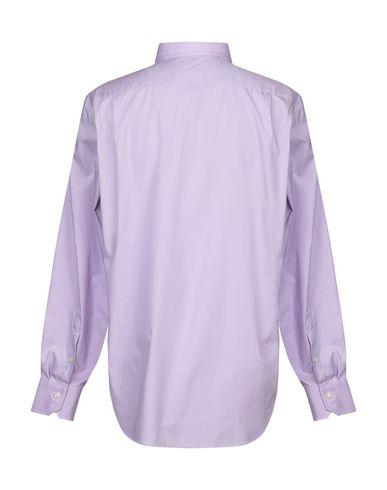 Фото 2 - Pубашка светло-фиолетового цвета