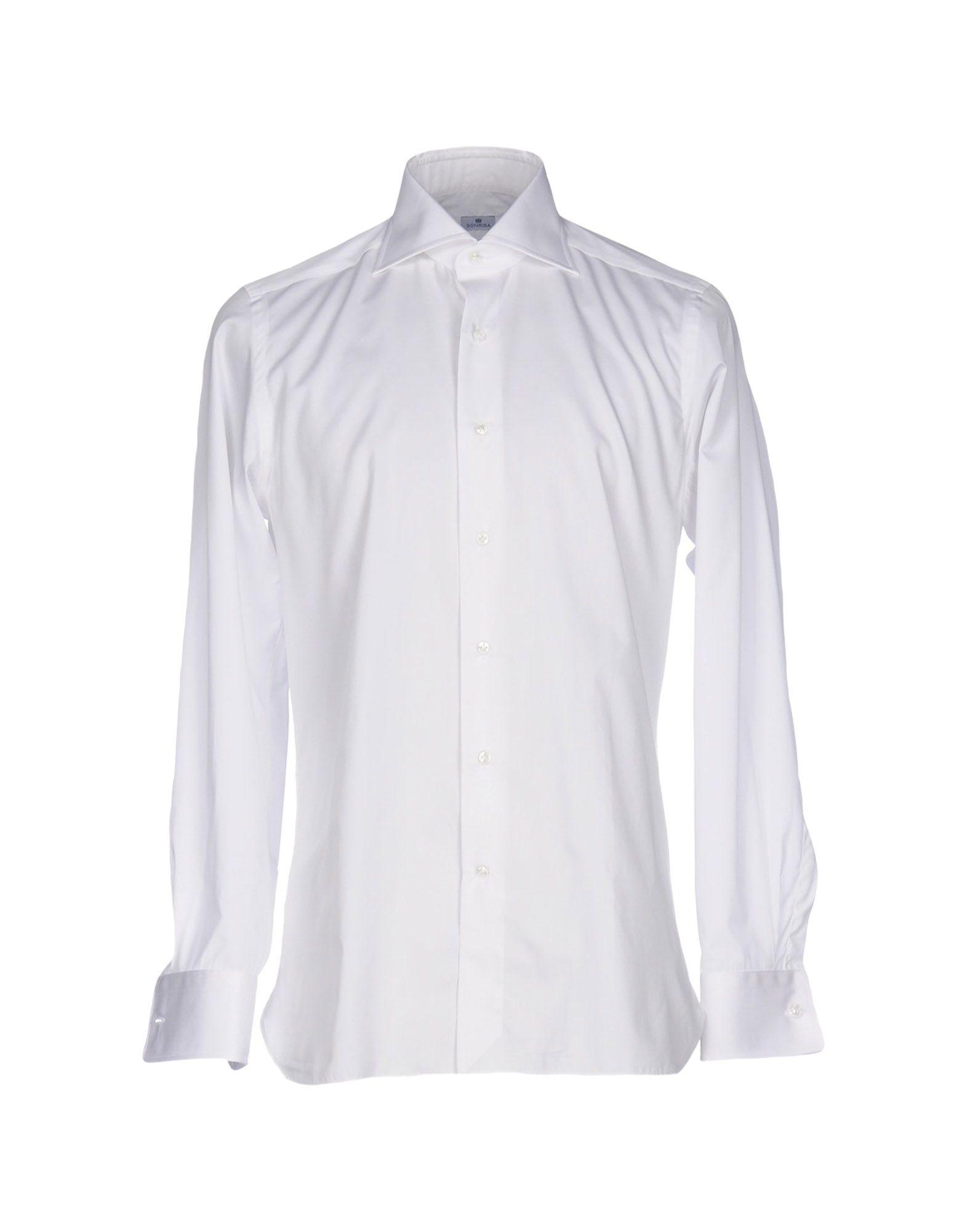 《送料無料》SONRISA メンズ シャツ ホワイト 43 コットン 100%