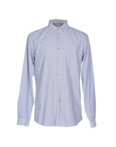 Фото - Pубашка от ..,BEAUCOUP синего цвета