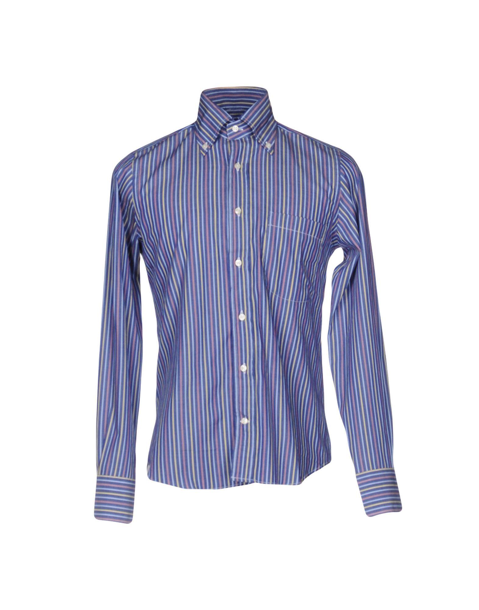 《送料無料》PARK SQUARE メンズ シャツ ブルー 38 コットン 100%