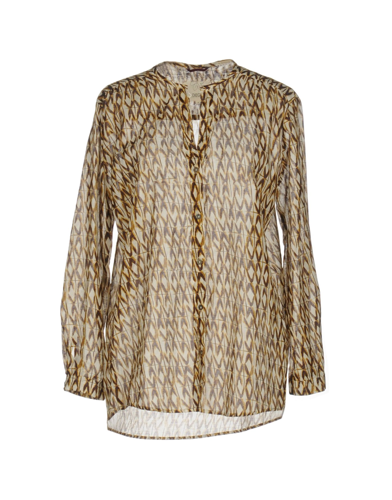 DIEGA Patterned Shirts & Blouses in Cocoa