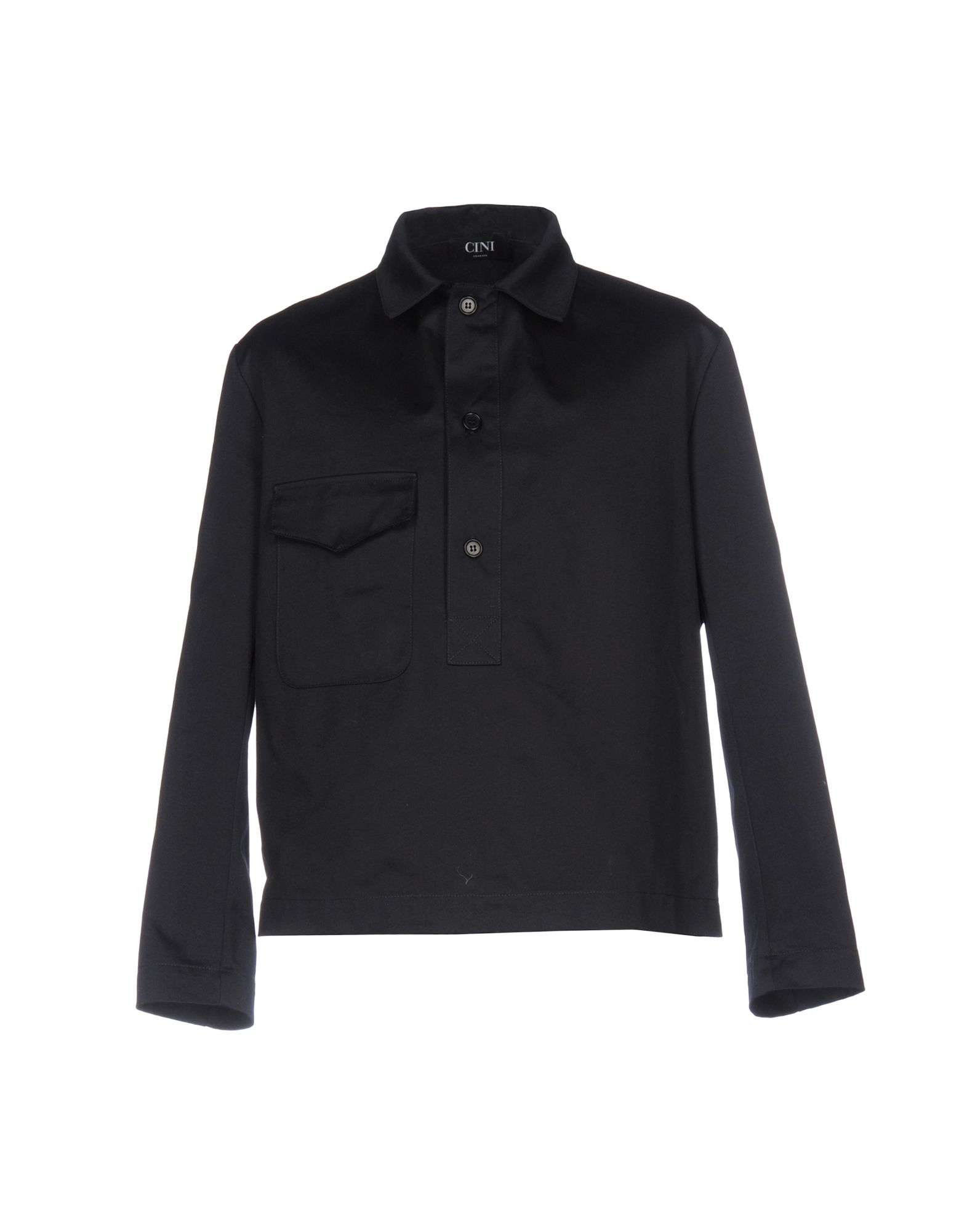 CINI Solid Color Shirt in Dark Blue